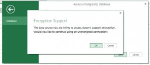 Power Query Encryption Popup